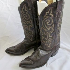 JUSTIN Western Cowboy Rocker Riding Leather BOOT